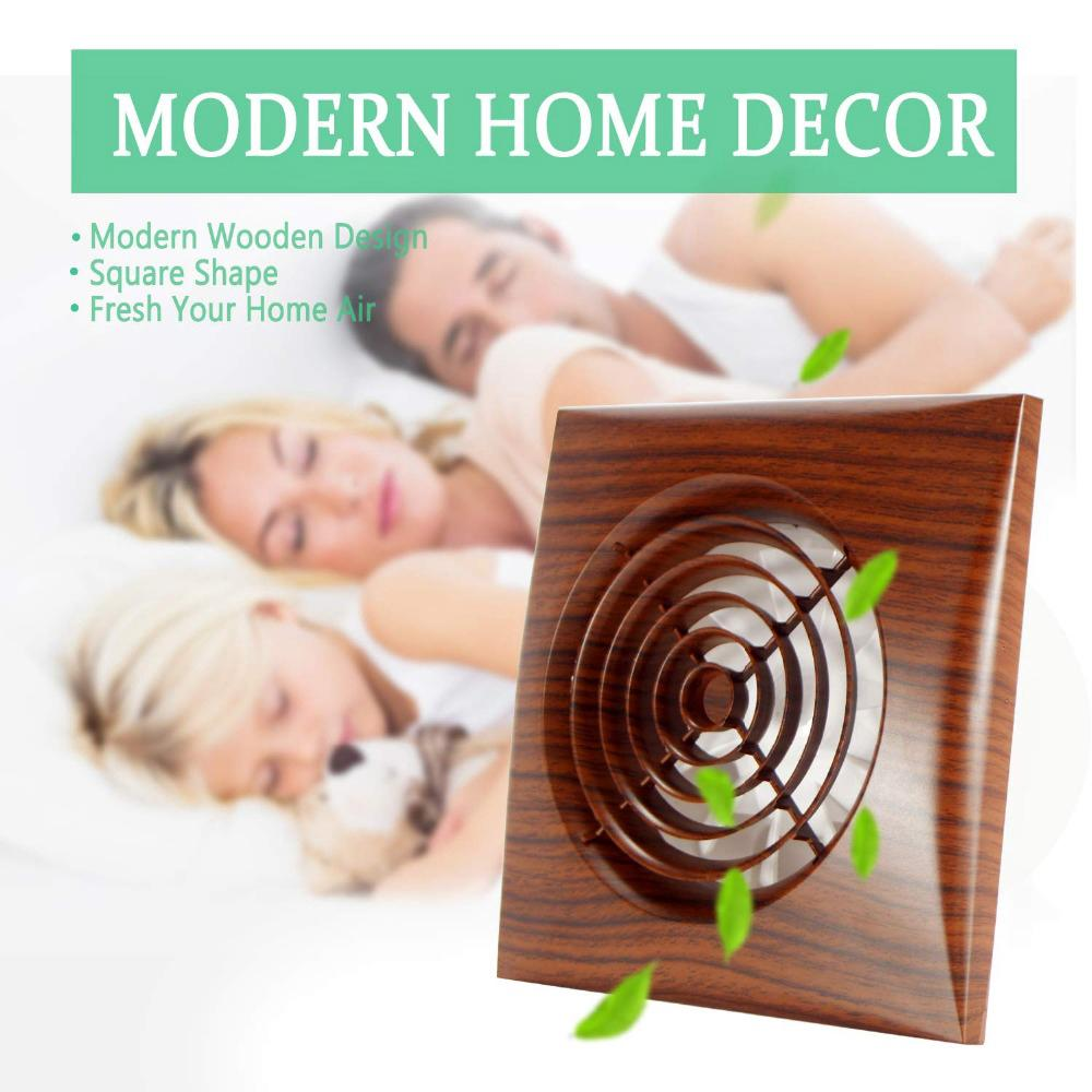 4 Inch Wood Grain Ventilation Wall Mounted Exhaust Extractor