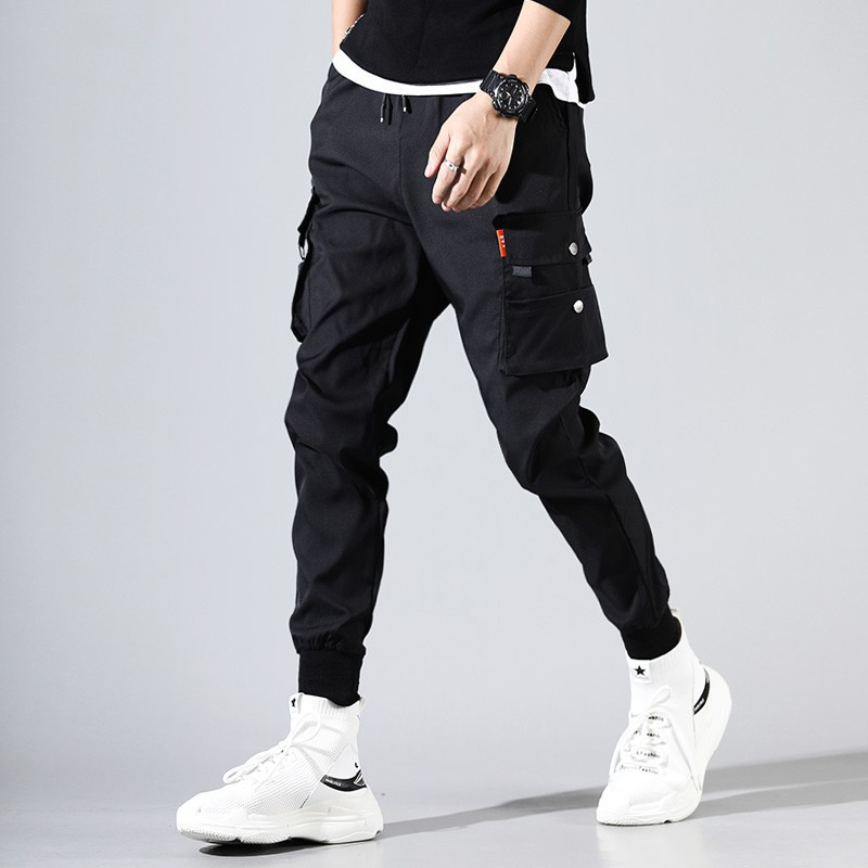Hip Hop Men Pantalones Hombre Kpop Casual Cargo Pants Skinny Sweatpants Joggers Modis Streetwear Trousers Harajuku Track Shopee Malaysia