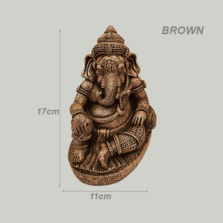 polyresin sitting ganesha statue height 17 cm suitable for