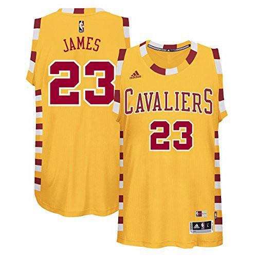 bcaef4899a0 LeBron James Cleveland Cavaliers  23 Yellow NBA Hardwood Classic Swingman  Jersey