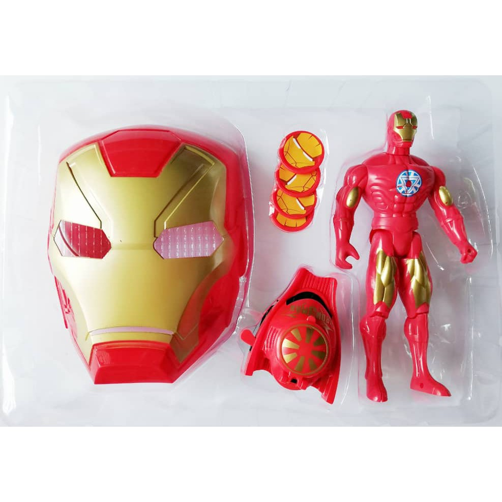 Marvel Agengers Hulk set of mask launcher and Toy for kids Pretend Play
