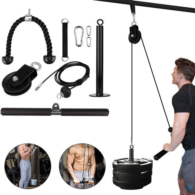 [READY STOCK] DIY FITNESS PULLEY CABLE SET/9 ITEM DIY HOME FITNESS PACK/PULLEY CABLE DIY HOME FITNESS PACK