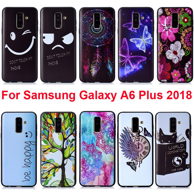 Soft TPU Cover For Samsung Galaxy A6 Plus A6Plus A6+ Case Printing Sleeve  Bag