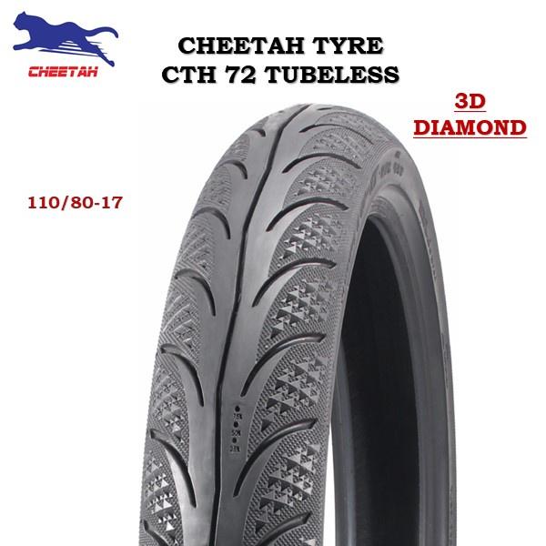 TAYAR  CHEETAH  CTH72 TUBELESS- (100% ORIGINAL) *MAXXIS DIAMOND* 70/90-17, 80/90-17, 90/80-17, 120/70-17, 140/70-17