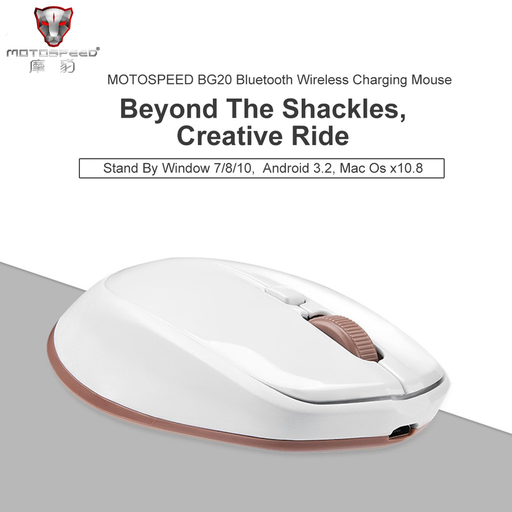 #3C# Motospeed Wireless Bluetooth Mouse Mini Optical Laptop Mice 2 4G 10m