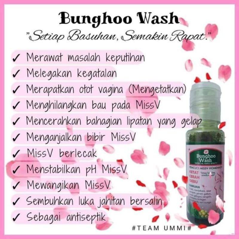 bunghoo wash 100% berkesan
