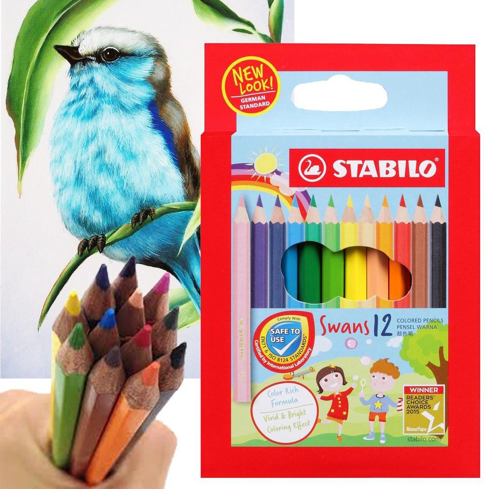 Stabilo Swans Colour Pencil 12 Colours (1873)