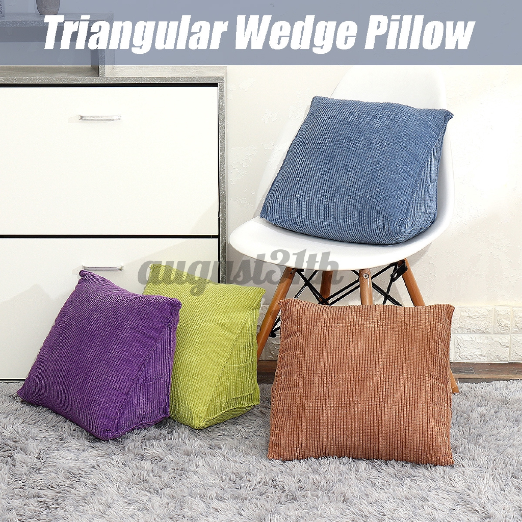 Reading Backrest Cushion Wedge Pillow Back Cushion Lumbar Pad Bed Office Chair Rest Pillow Back Support Pillow Shopee Malaysia