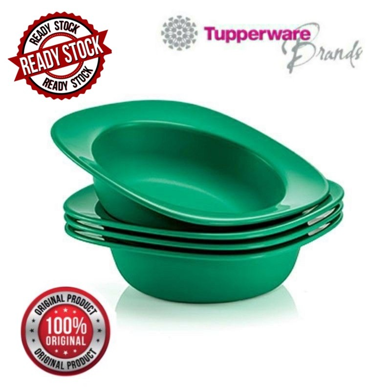 🔥READY STOCK🔥 Tupperware Emerald Bowls (4) 350ml
