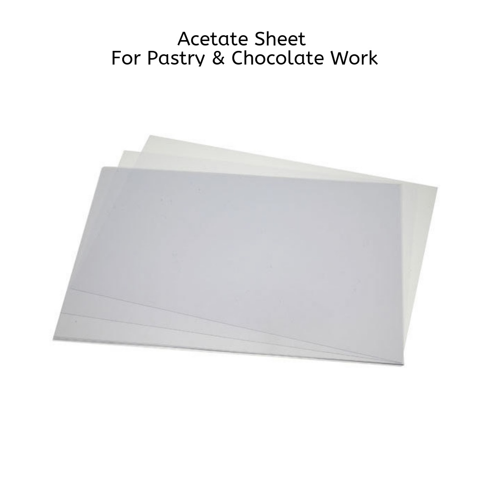 Pavoni, Acetate Sheet, 5 pcs, For Patisserie & Chocolate Work, 600 x 400 mm