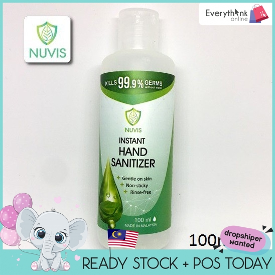 READY STOCK Nuvis Hand Sanitizer (70% alcohol) (100ml)