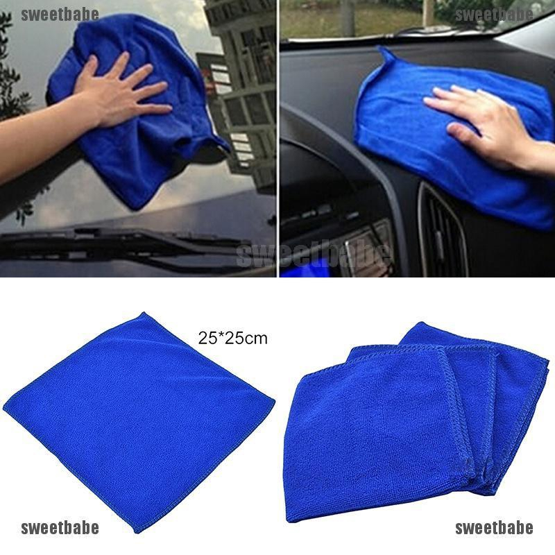 2x Blue 30x30cm Super Water Absorbent  Microfiber Cleaning Towel Car Wash Cloth