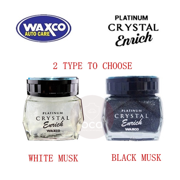 WAXCO Car Perfume Platinum Crystal Enrich Essence Black / White Musk 85ML