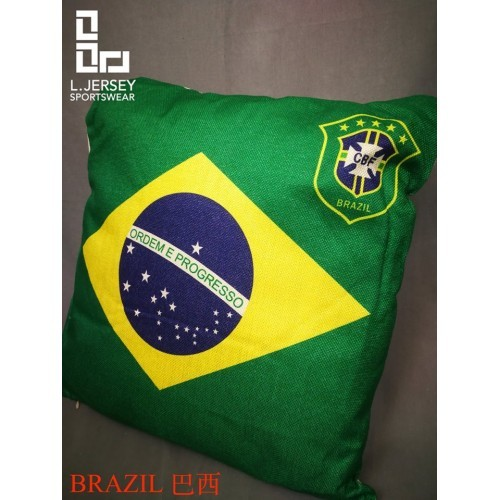 Brazil Pillow World Cup 2018 National Graphic