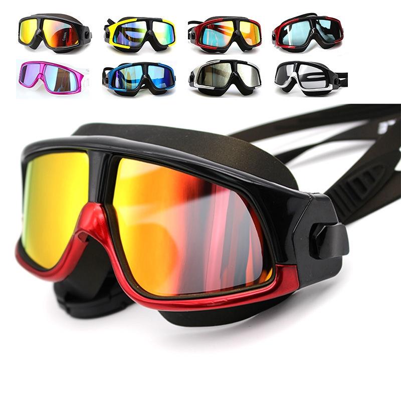 ⭐Unisex Silicone Large Frame Swim Glasses Swim Goggles Waterproof Anti-Fog UV
