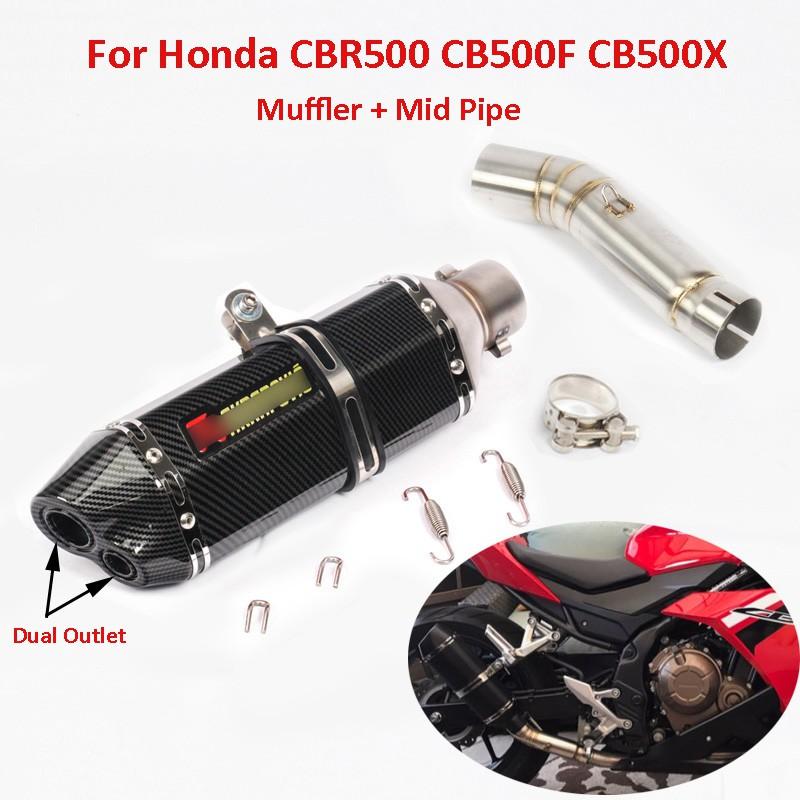 Slip on CBR500 Motorcycle Exhaust Muffler Pipe Link Pipe For Honda CBR500 CB500F