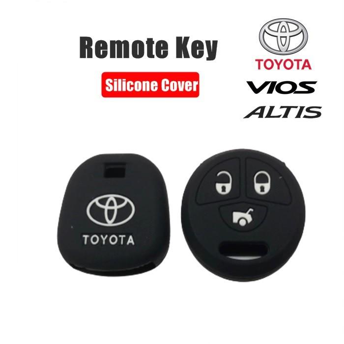 MALAYSIA : SARUNG KUNCI KERETA Toyota Vios & Altis 2007-2013 Remote Silicone Case Cover (1 Set)
