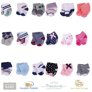 BABY SOCKS 3 PAIR NEWBORN - 12 MONTH BRAND LITTLE TREASURE