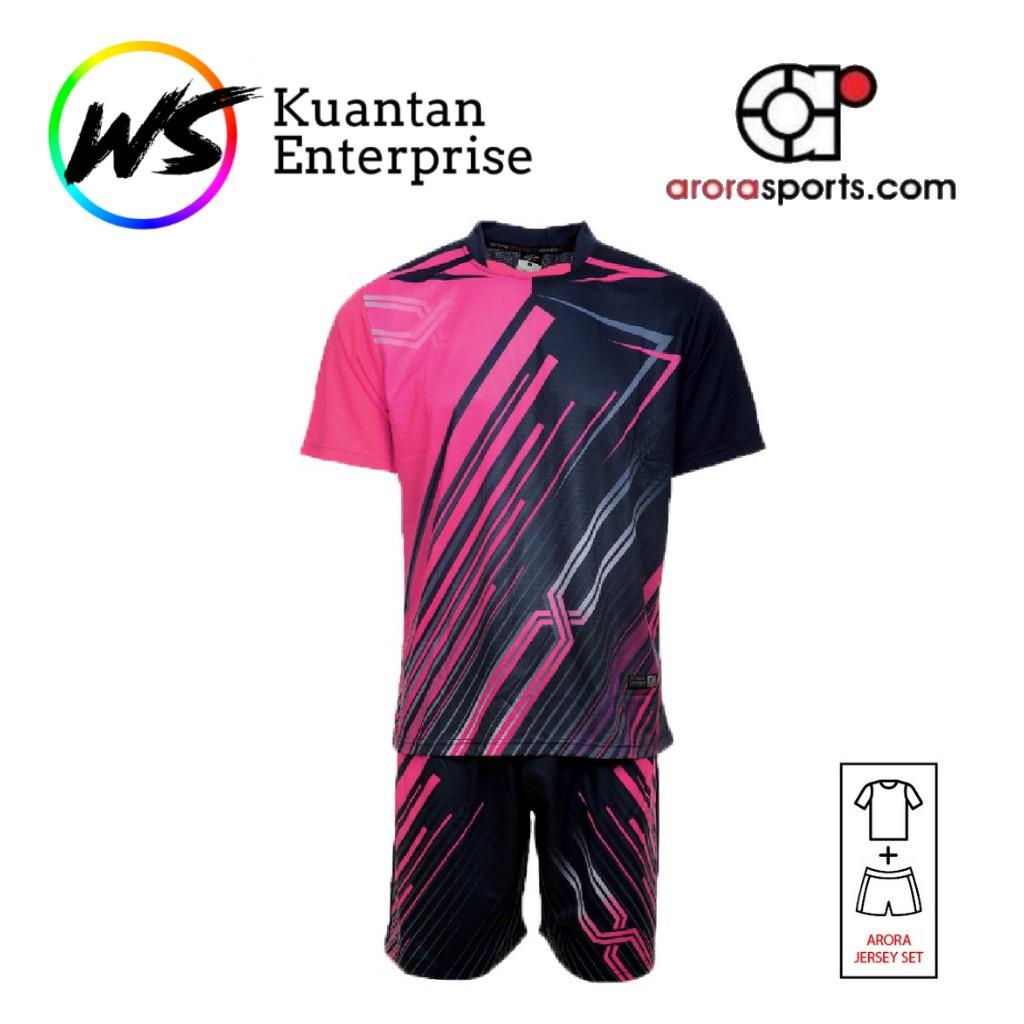 【100% Original】ARORA SPORTS Unisex CLEARANCE Sports Kit Sublimation Jersey Shorts Set (YBS 08 - 11)