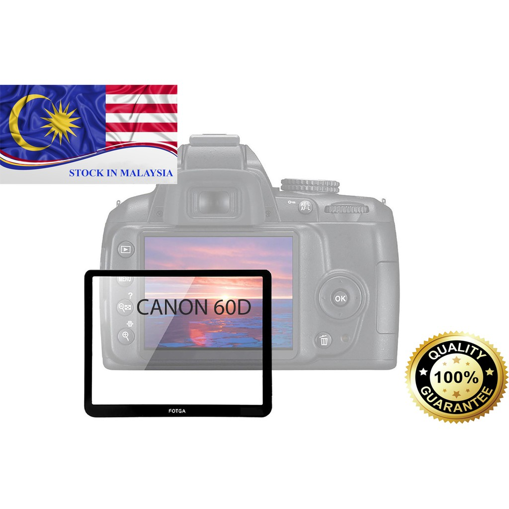 Fotga 0.5mm Premium LCD Screen Panel Protector Glass For Canon EOS 60D (Ready Stock In Malaysia)