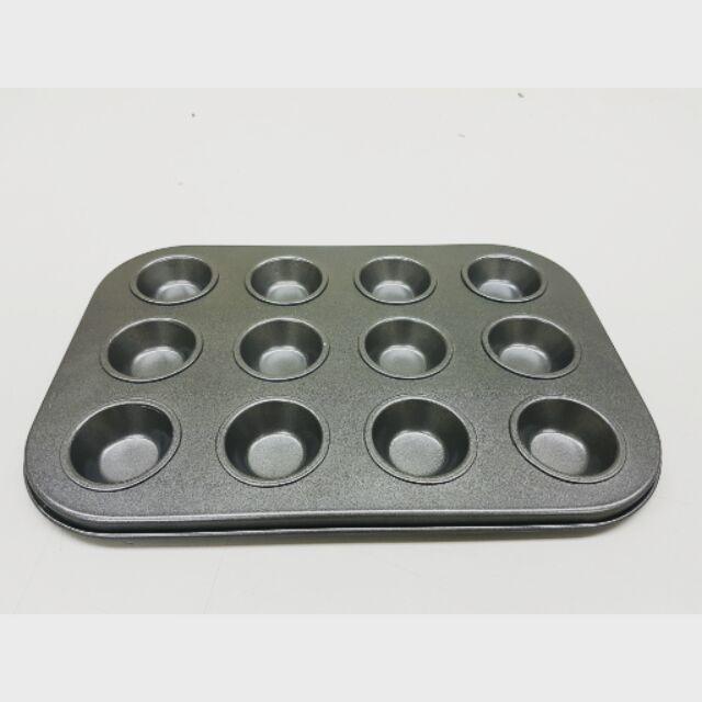 12 pcs Non Stick Cake / Muffin Mould/Mold (35mm)