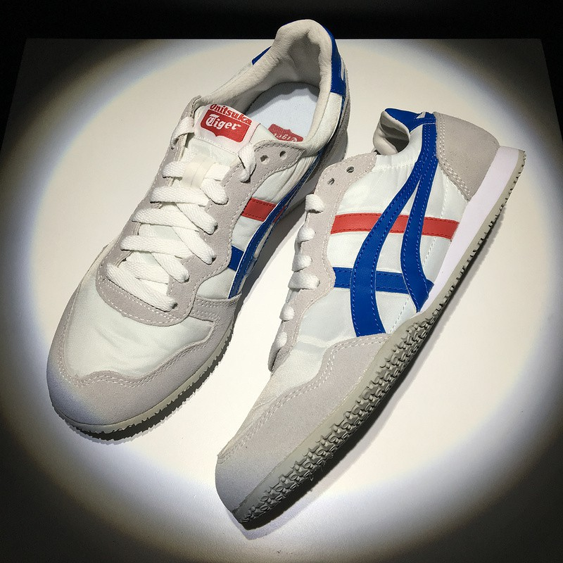 separation shoes 63f83 55402 asics Onitsuka Tiger 鬼冢虎 SERRANO white red blue mens womens sport low top  shoes