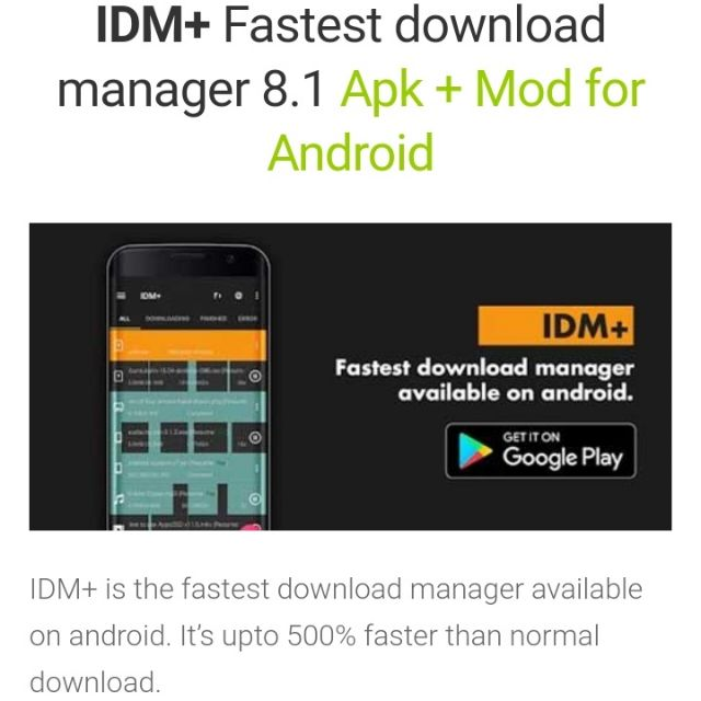 IDM+ fastest download manager 8 1 [Android]