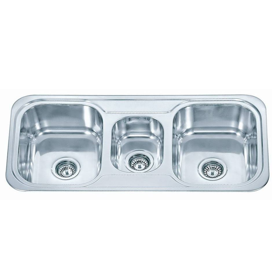 2 1/2 Bowl Stainless Steel Sink C/W Waste NKS-886
