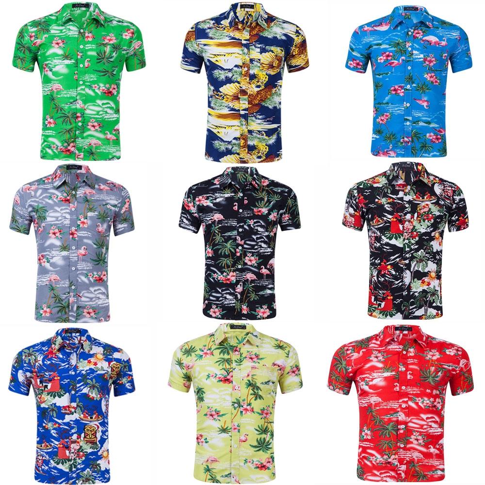 ac9bbdbbc48a12 ProductImage. ProductImage. S-2XL Fashion Mens Aloha Hawaiian Beach Shirts