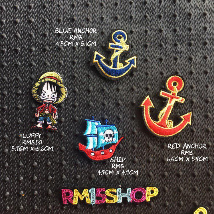 b5f8c7928498b Iron on Patches One Piece Luffy Ready Stock