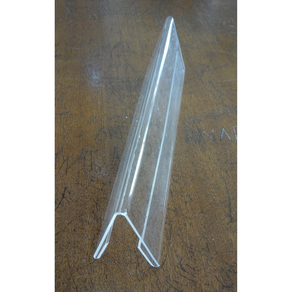 V Shape Horizontal Double Sided Acrylic Table Standee - Big 12 x 2.5in