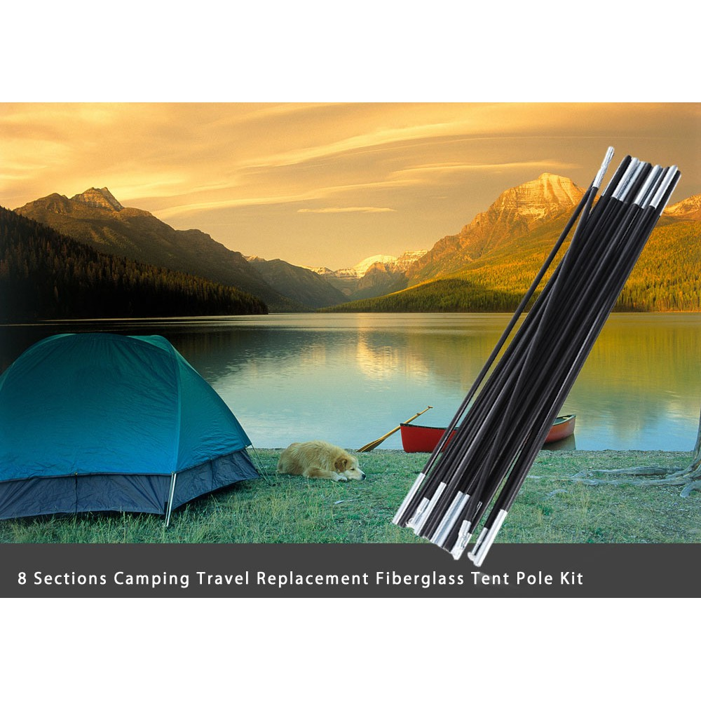 Camping & Hiking Other Camping & Hiking 8 Sections Outdoor Camping Tent Poles 50 X 1.6cm Galvanized Iron Canopy Awning Without Return