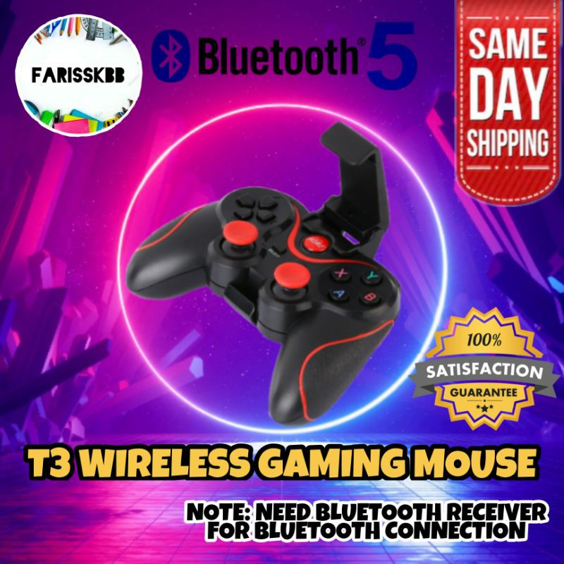T3 WIRELESS BLUETOOTH GAMING CONTROLLER WIRELESS GAMEPAD MOBILE CONTROLLER MOBILE TRIGGER GAMING TRIGGER FOR COD PUBG