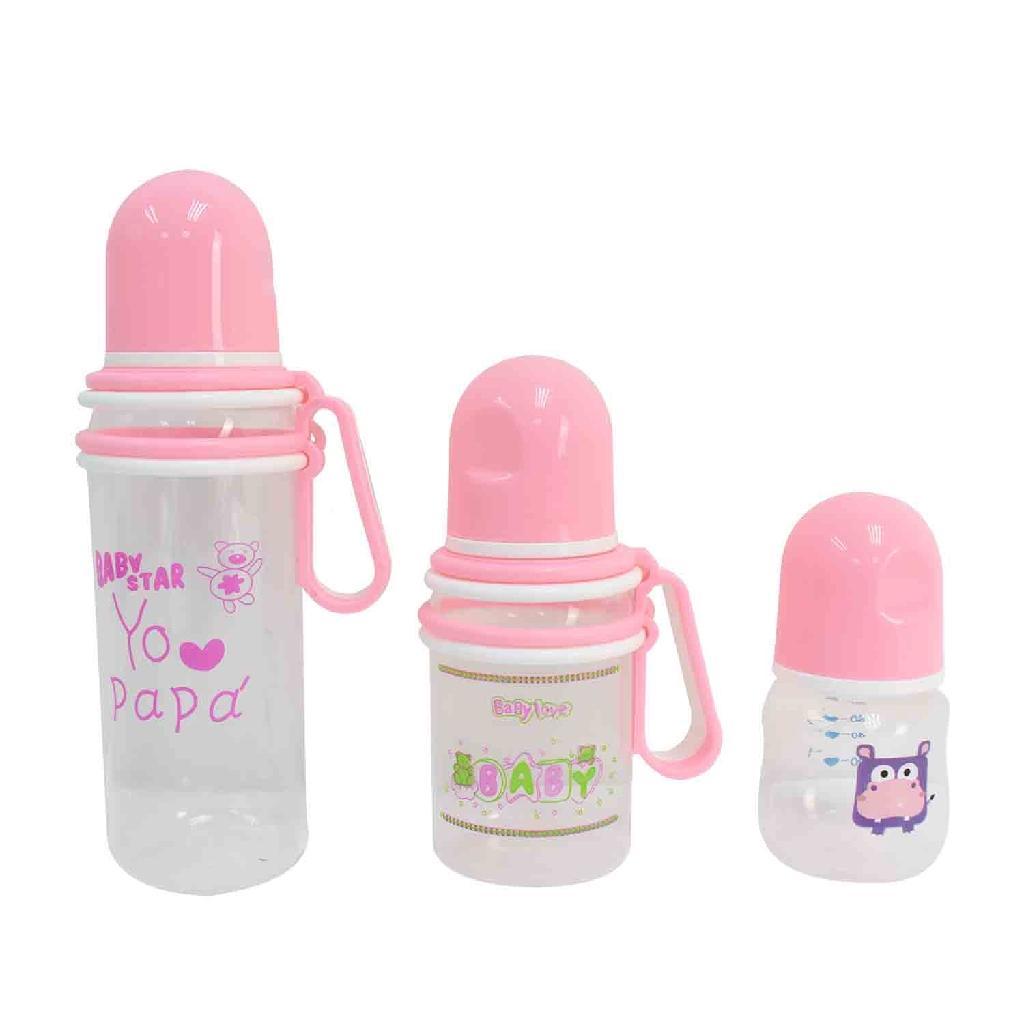 Apple Bear Baby Milk Bottle Set (7pc) - Random Colour