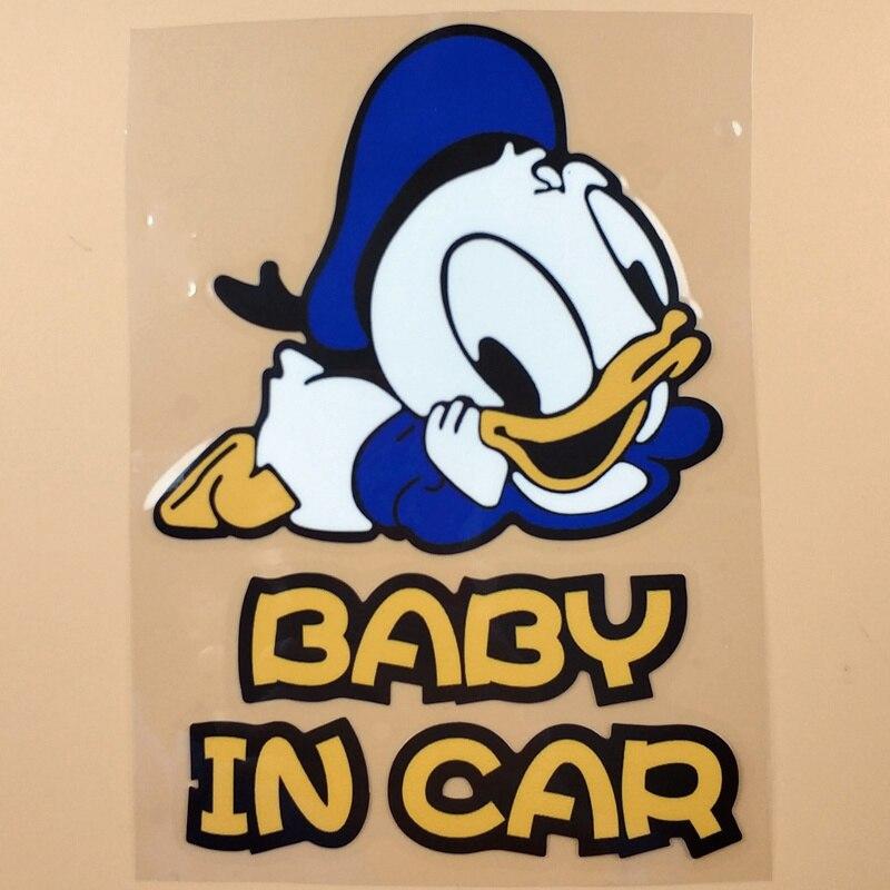 DAISY DUCK Baby Daisy On Board Warning  WINDOW DECAL STICKER VINYL GRAPHICS