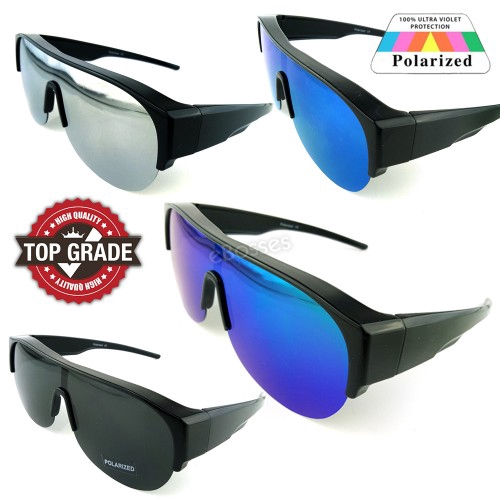 3026254676a TOP GRADE UV PROTECTION FITOVER OVERLAP POLARIZED SUNGLASSES MEN (DY045)