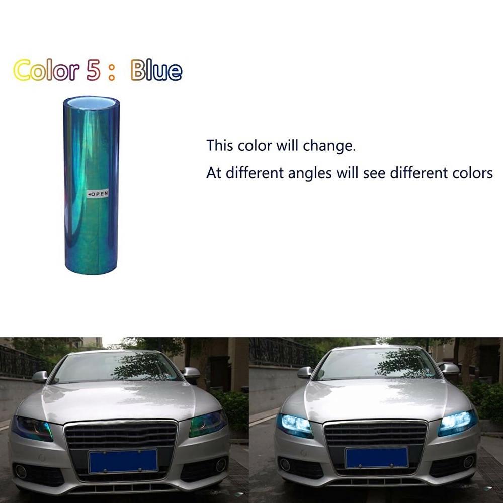 200x30cm Chameleon Colorful Blue Car Headlight Tail Fog Light Vinyl Tint Film