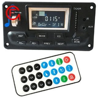 Bluetooth Mp3 Decoding Board Module Led Lyric 12V Diy Usb/Sd