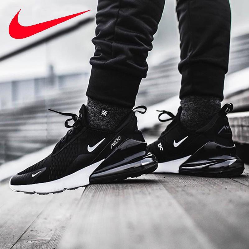 Ready Stock!Nike Air Max 270 Flyknit Men Women Running Shoes Sport Shoes Sneaker