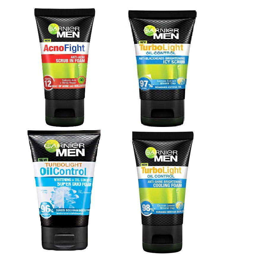 Garnier Men Turbo Light Oil Control Charcoal Black Foam 50ml | Shopee Malaysia