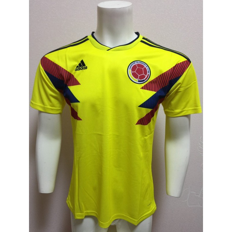 save off e8bd5 0598c 2018 World Cup Colombia National Team Home Away Football Jersey Short Sleeve