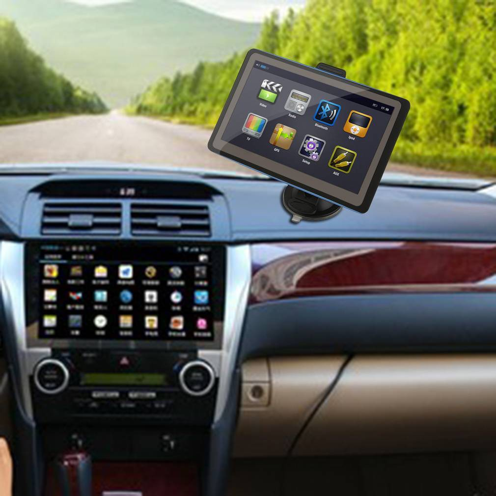 7 Inch Android 60 Double 2 Din Navi Sat Nav Car Gps Stereo Dab Automobile Interior Lights Fader Shopee Malaysia