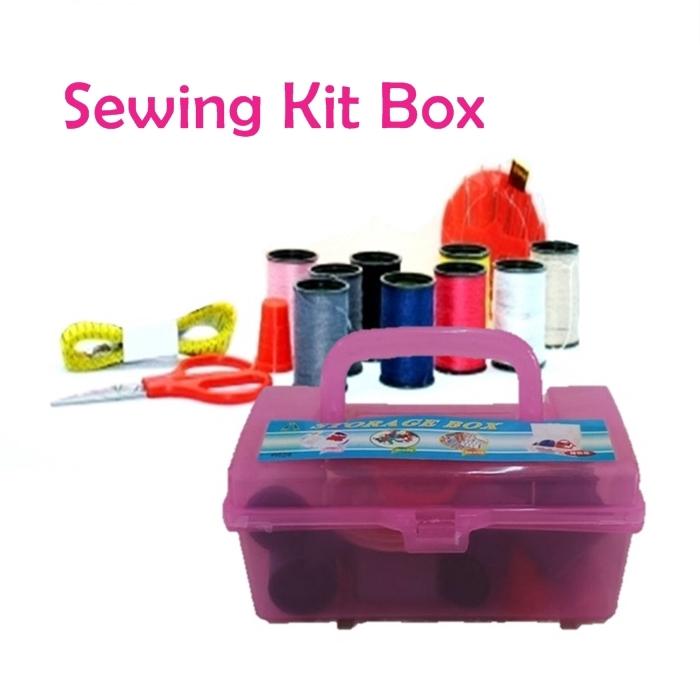 ????Must Buy???? Kotak Alat Jahitan Sewing Kit Box (Medium Size)-628