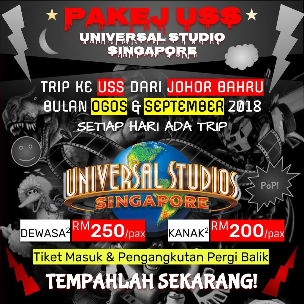 Pakej Ke Uss Universal Studio Singapore Dari Johor Bahru
