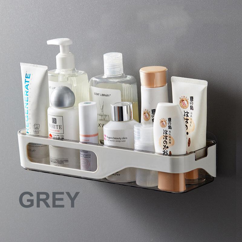 GDeal Punch Free Bathroom Shelf Waterproof Wall Hanging Toiletries Storage Organizer