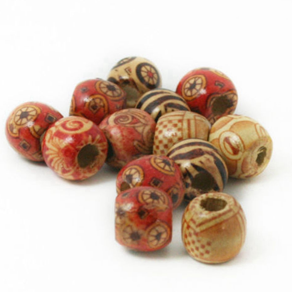 Mixed Color Wooden Beads For Macrame Jewelry Charms Crafts Making DIY 100PCS