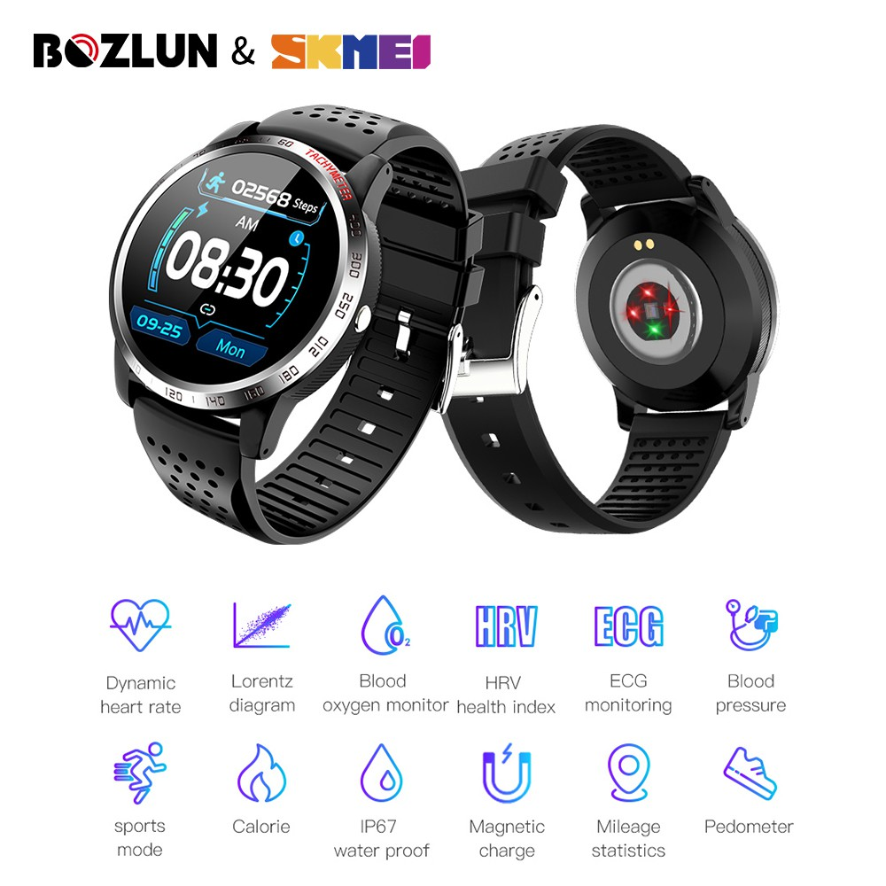 SKMEI BOZLUN W3 1.3 inch Waterproof Heart Rate Blood Pressure Oxygen Monitor Fitness Sport Tracker For Android IOS