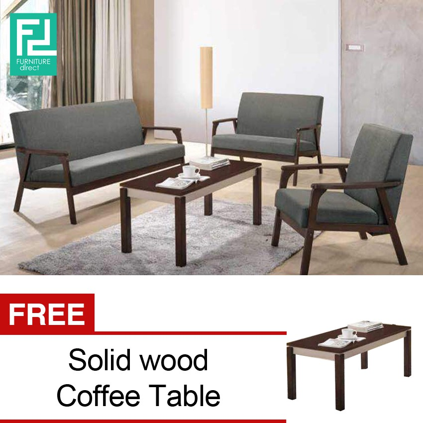 Furniture Direct Parker 1 2 3 Sofa Set With Free Coffee Table