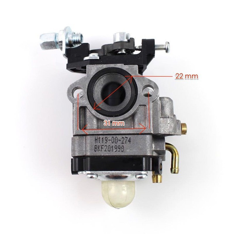 HL🔥Ruixing H119 26cc Lawn Mower Carburetor Works for 1E40F Engine Huasheng