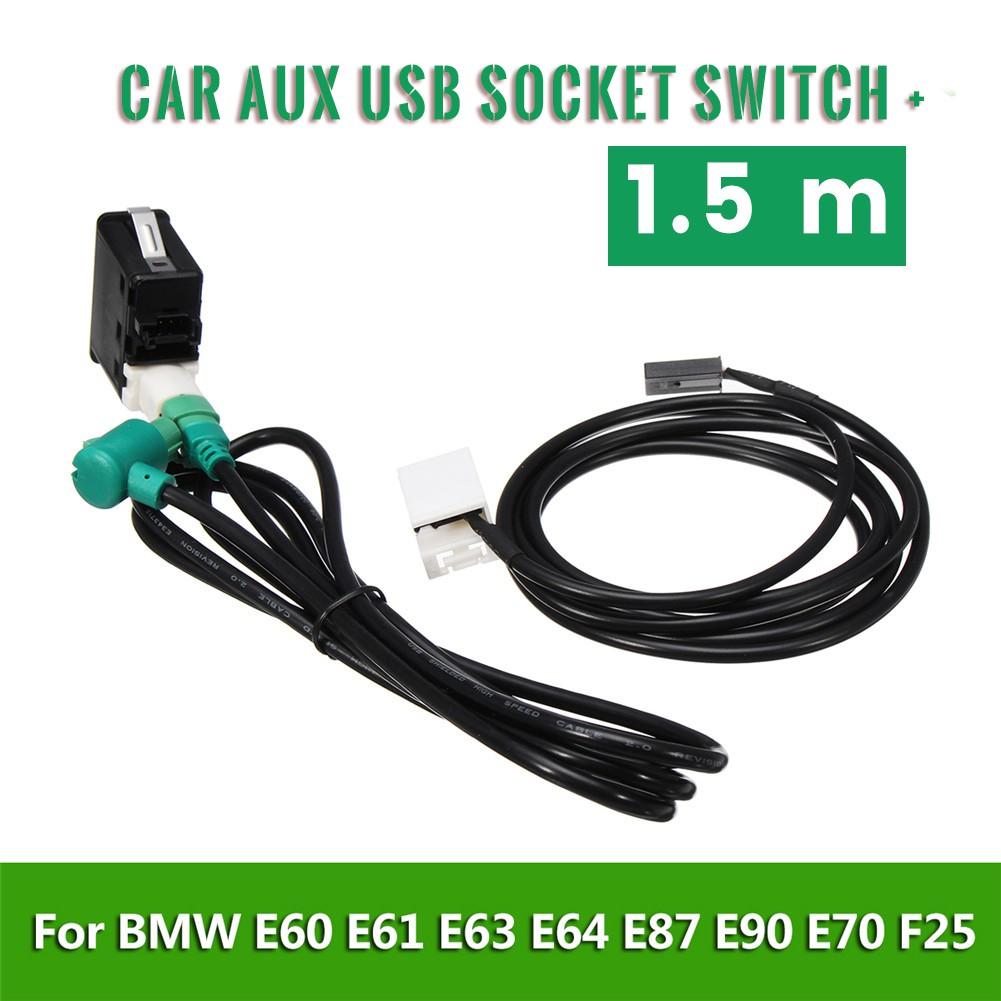 Cable De Z/ócalo Del Interruptor Del USB AUX Del Coche Para BMW 3 5 Series E87 E88 E89 E90 E91 E93